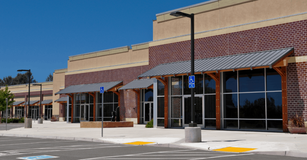Vacant Commercial Real Estate shopping center
